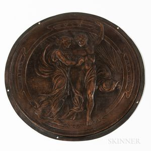 Julia Bracken Wendt (American, 1870-1942) Patinated Bronze Plaque of the Four Seasons