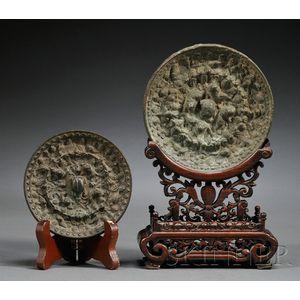 Two Bronze Mirrors