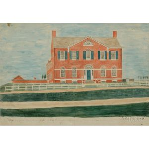 William Banton (British/American, active Early 19th Century) A View of the Present British Ministers House ...