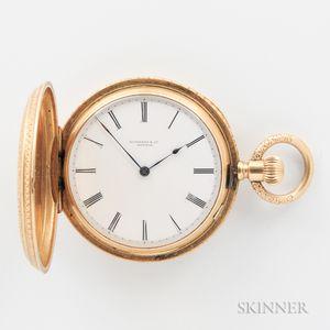 Tiffany & Co. 18kt Gold Hunter Case Watch