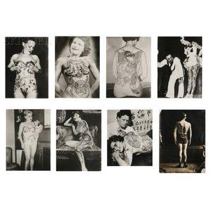 American School, 20th Century      Group of Nineteen Tattoo Photographs: