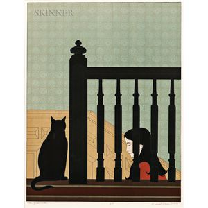 Will Barnet (American, 1911-2012)      The Bannister