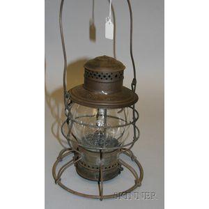 """""""Safety First"""" B. & O.R.R. Signal Lantern"""