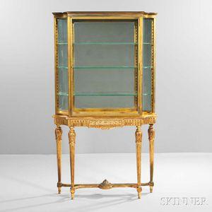Louis XVI-style Giltwood Display Cabinet
