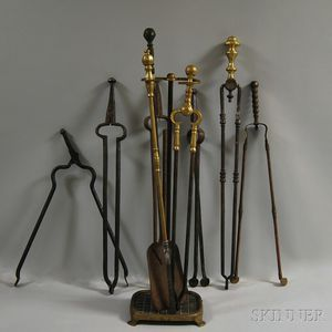 Assorted Group of Fireplace Tools