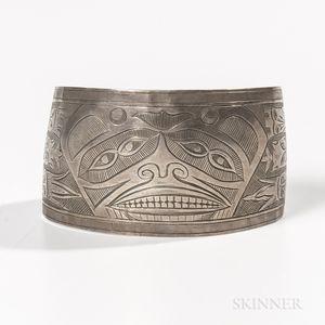 Northwest Coast Silver Bracelet