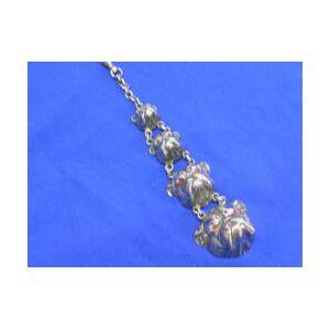 Kerr Sterling Silver Bull-dog Watch Chain.