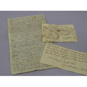 Three 18th Century Connecticut Slave Related Documents