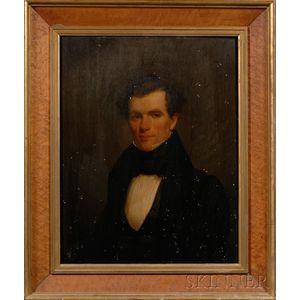 American School, 19th Century      Portrait of a Young Gentleman.