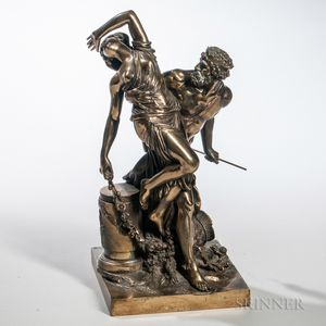 After Claude Michel Clodion (French, 1738-1814)   Bronze Figure of the Abduction of Persephone