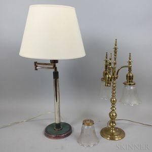Two Modern Metal Table Lamps.     Estimate $20-200