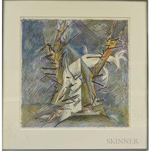 Marjorie Moore (American, b. 1944)      Dead Deer in a Tree
