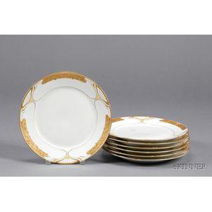 Seven Art Nouveau Style KPM Porcelain Plates