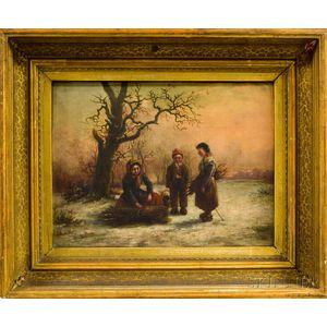 Dutch School, 19th Century      Children in a Winter Landscape