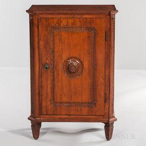 Neoclassical Walnut Side Cabinet