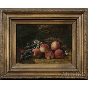 Barton Stone Hays (American, 1826-1914)      Still Life of Fruit.