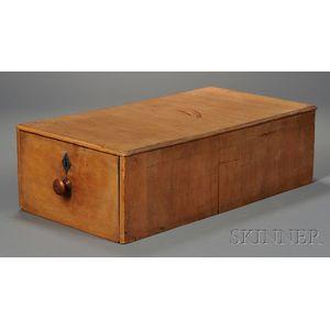 Shaker Pine One-drawer File Box