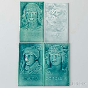 J.G. & J.F. Low Art Tile Works Portrait Tiles