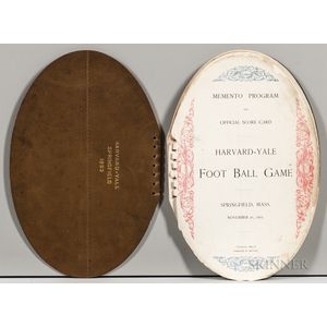 Memento Program and Official Score Card, Harvard-Yale Foot Ball Game, Springfield, Mass, November 25, 1893.