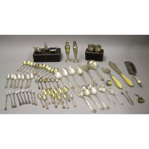 Group of Assorted Sterling Silver and Silver Plated Table and Flatware Items
