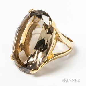 14kt Gold and Citrine Cocktail Ring