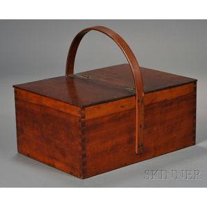 Shaker Cherry Covered Work Box with Ash Handle