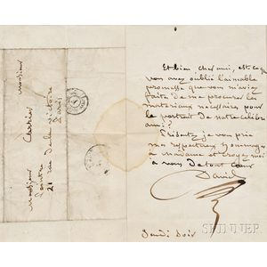 David, Jacques-Louis (1748-1825) Autograph Letter Signed, undated.