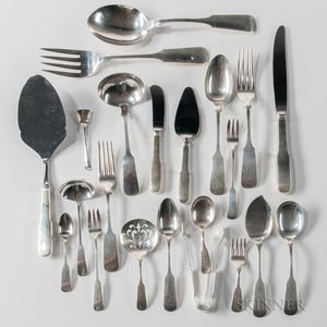 "Gorham ""Old English Tipt"" Pattern Sterling Silver Flatware Service"