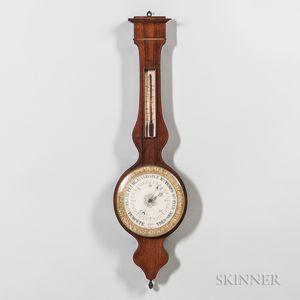 French Rosewood Veneered Mercury Wheel Barometer