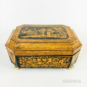 Regency Chinoiserie-decorated Lithographed Wood Box