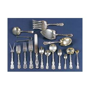 """Assembled Whiting Manufacturing Co. Sterling """"Louis XV"""" Flatware Service"""