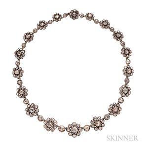 Antique Rose-cut Diamond Necklace