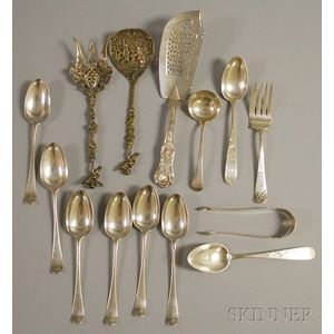 Group of Silver Flatware Serving Items