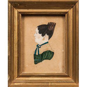 Amos M. Holbrook (American, act. 1830-1831)      Portrait of Abigail Rumrill, East Brookfield, Massachusetts