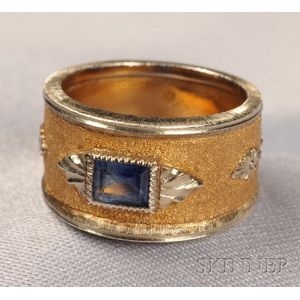 18kt Bicolor Gold and Sapphire Ring, M. Buccellati