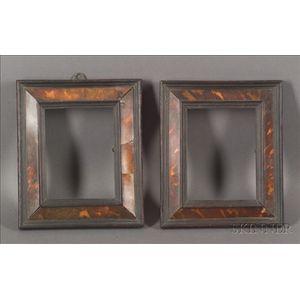 Pair of Tortoiseshell Veneer Wooden Frames