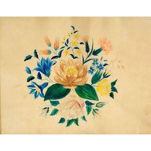American School, 19th Century    Floral Composition.