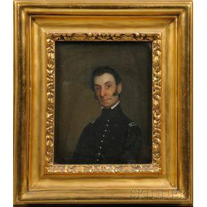 Attributed to Chester Harding (Massachusetts, 1792-1866      Portrait of Colonel John Basil Clarke.