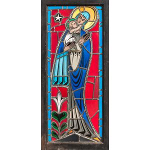 Burnham Studios Madonna and Child Stained Glass Window