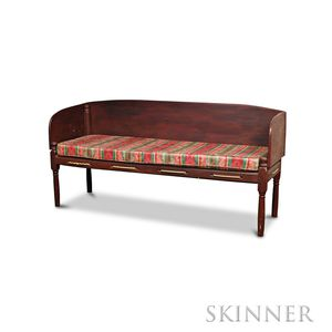 Red-stained Rope Bed/Bench
