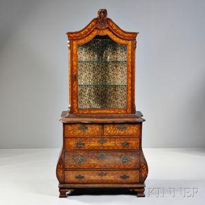 Victorian Dutch Walnut Marquetry Cabinet
