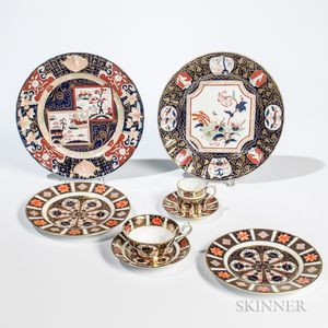 Group of Royal Crown Derby Tableware and Four Mason