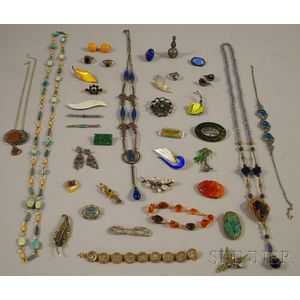 Group of Art Deco and Art Deco-style Costume Jewelry