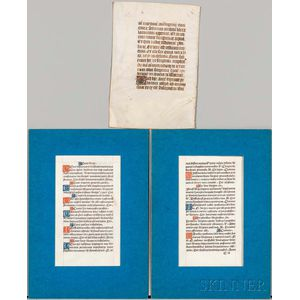 Book of Hours, Three Leaves.