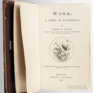 Alcott, Louisa May (1832-1888) Work: a Story of Experience  , with Clipped Signature.
