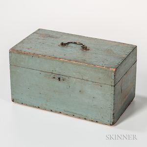 Powder Blue-painted Storage Box
