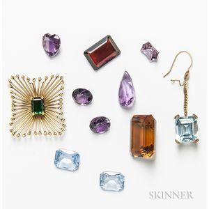 Group of Gemstones