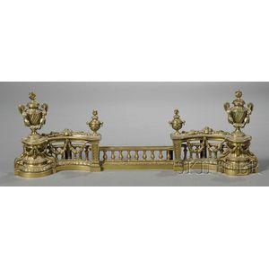 Pair of Louis XVI-style Bronze Chenets
