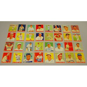 Thirty-two 1933-34 Goudey Gum Big League Baseball Cards