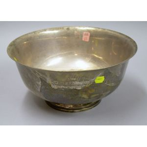 Fisher Sterling Silver Revere-style Presentation Bowl